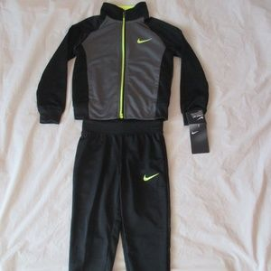 Nike Boys Tracksuit 2 Piece Black Gray 86E132-023